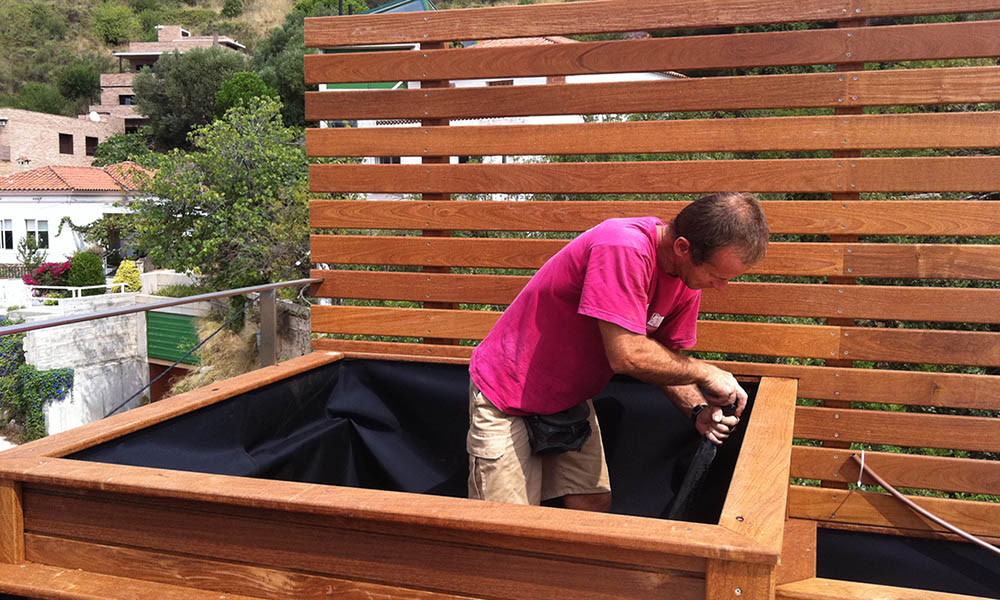 construccion de jardinera de madera