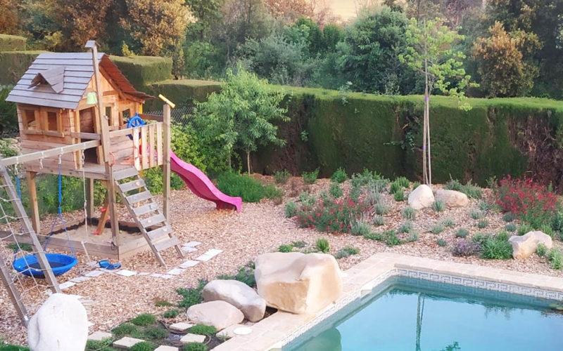 jugar con la naturaleza jardin ametlla del valles