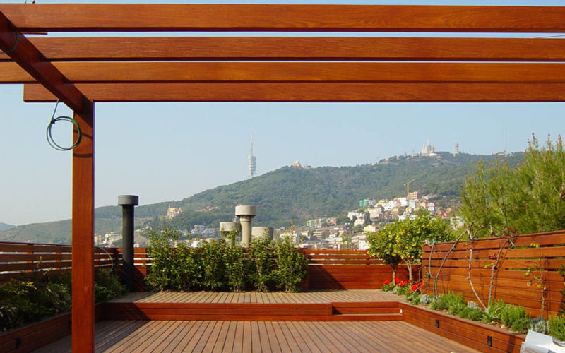 terrace view barcelona